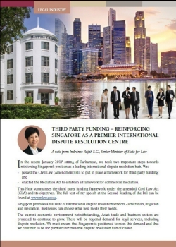 image of pdf: third party funding - reinforcing singapore as a premier international dispute resolution centre